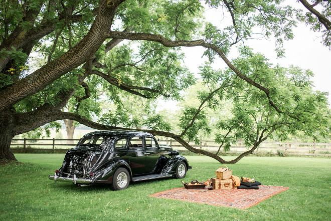Fall Picnic Fall Picnic in Ontario, Canada with antique car Fall Picnic #FallPicnic