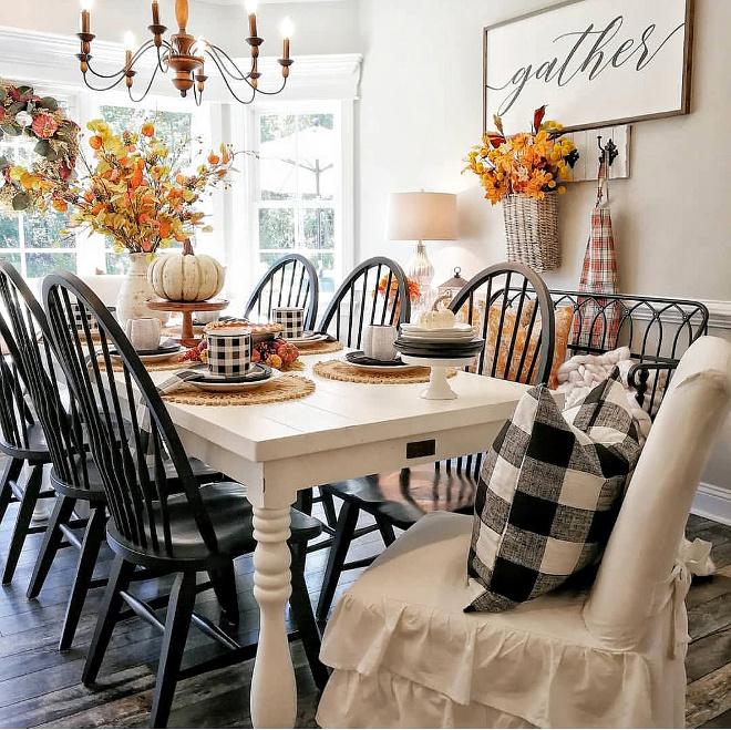 Farmhouse Fall Dining Room Decorating Ideas