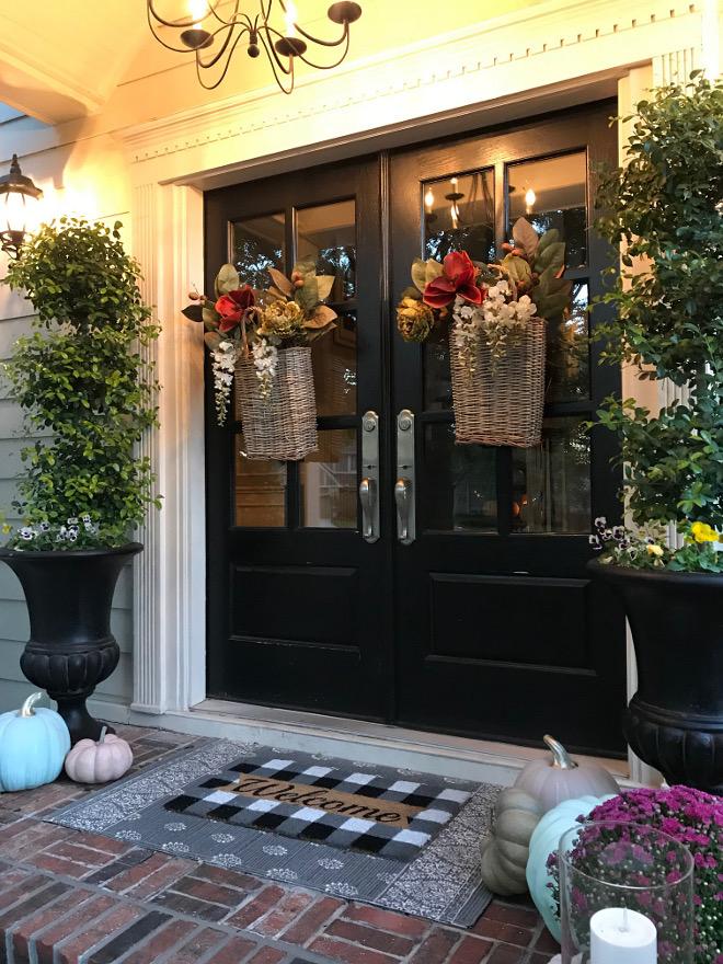 Front Door Fall Decor Basket Wreat Dry Flowers Pumpkins Front Door Fall Decor Front Door Fall Decor Front Door Fall Decor #FrontDoorFallDecor