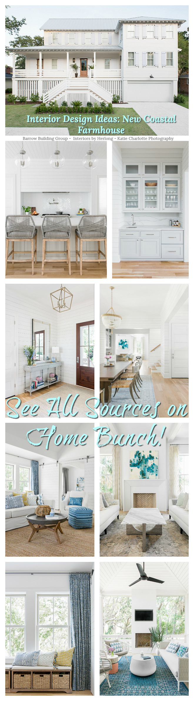 Interior Design Ideas New Coastal Farmhouse see sources and paint colors on Home Bunch