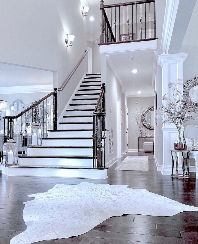 Staircase Inspiration Foyer opens to grand Staircase