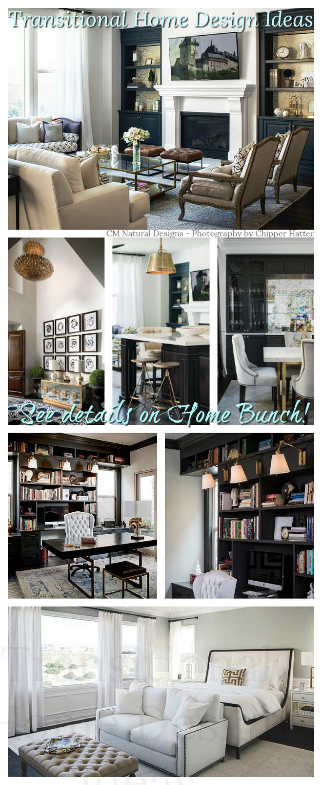 Transitional Home Design Ideas see sources on Home Bunch #TransitionalHomeDesignIdeas