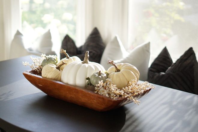 White Pumpkins in a Rustic Wooden Dough Bowl Fall Centerpiece White Pumpkins in a Rustic Wooden Dough Bowl Fall Centerpiece ideas #WhitePumpkins #RusticWoodenDoughBowl #WoodenDoughBowl #RusticDoughBowl #DoughBowl #FallCenterpiece