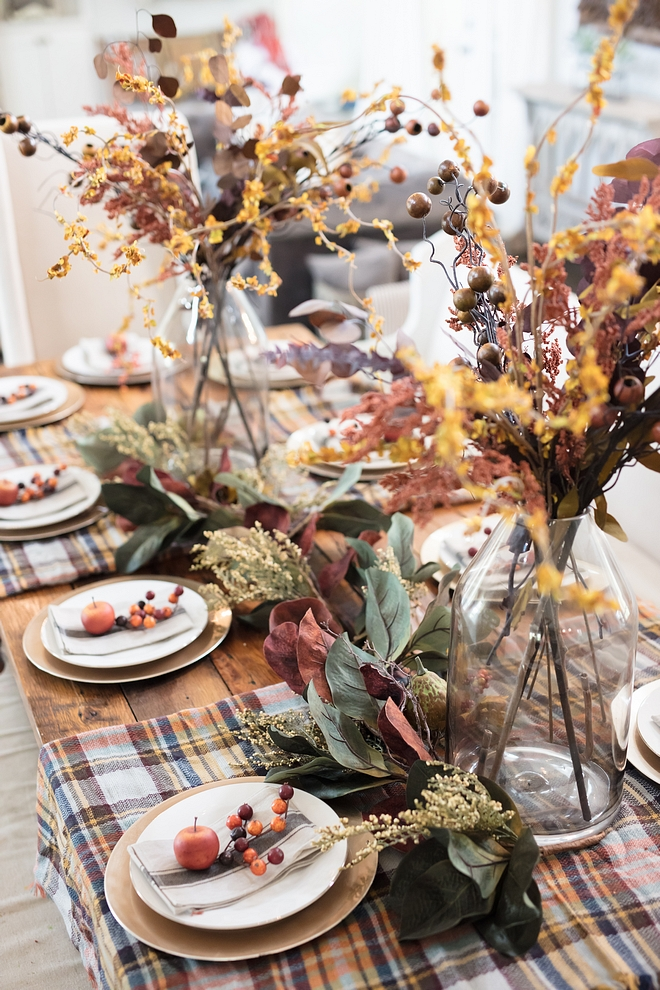 Fall Autumn Colors on Tablescape
