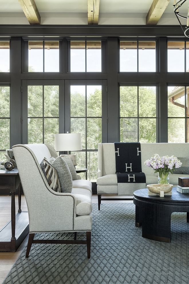 Sherwin Williams Medium Bronze Interior windows are painted to match the Marvin Bronze in Sherwin Williams Medium Bronze #SherwinWilliamsMediumBronze #SherwinWilliams #interiorwindows #windows #windowpaintcolor
