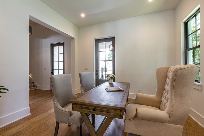 Home Office by Foyer This is a very flexible space and it can be used as a formal dining room is desired. Door opens to front porch #homeoffice