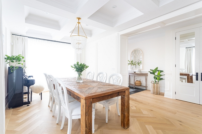 Casual Dining Room I love having a separate dining room but we didn't want anything too formal or fancy We eat dinner in our dining room every evening It's so important to me for our family to connect around the table at the end of the day #casualdiningroom