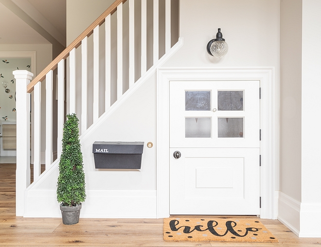 Under stairs Playhouse under staircase Playhouse with Duct doors and mail box Cute idea space saving playhouse under stairs #understairplayhouse #playhouse
