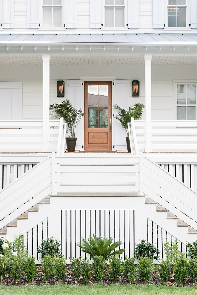 Sherwin Williams Origami White SW 7626 Farmhouse with metal roof paint color Sherwin Williams Origami White SW 7626 #farmhouse #metalroof #exterior #paintcolor #SherwinWilliamsOrigamiWhiteSW7626 #SherwinWilliams #OrigamiWhite #SW7626