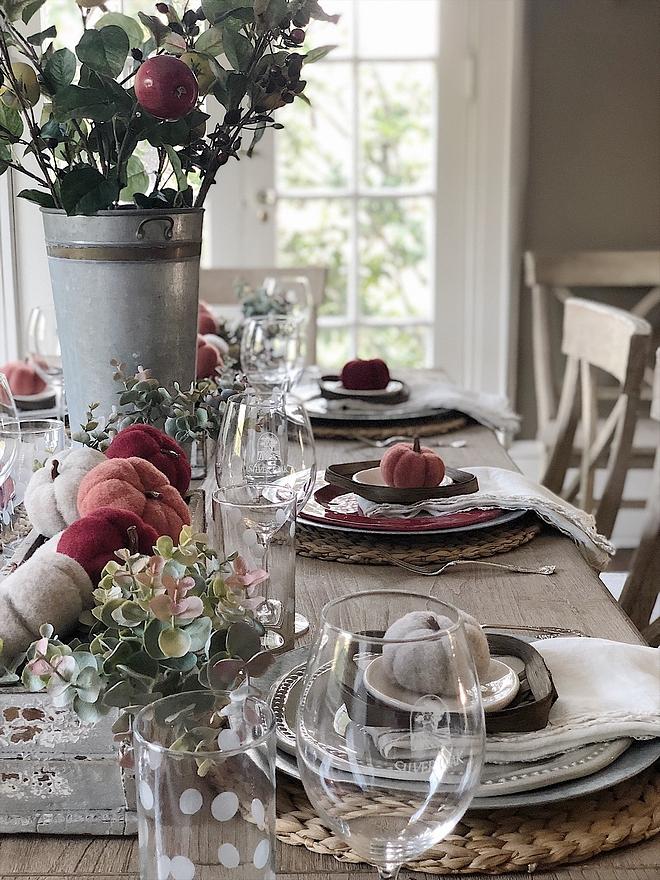 Beautiful fall tablescape