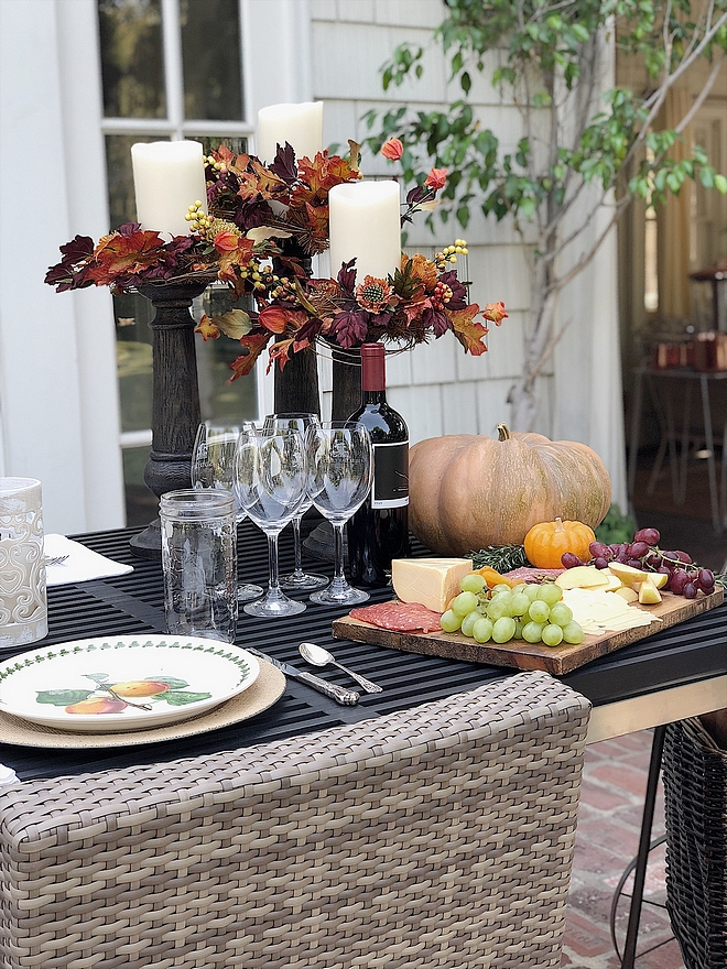 Outdoor Fall Dinner Tablescape