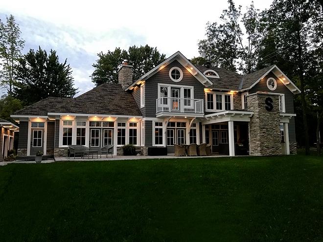 Rear facade Lake house