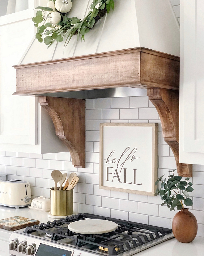 Kitchen Hood mantel and corbels