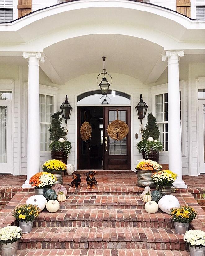 Brick porch steps