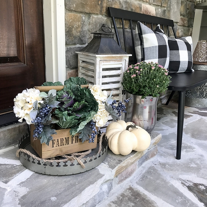 Front Porch Welcoming Fall Decor for front Porch
