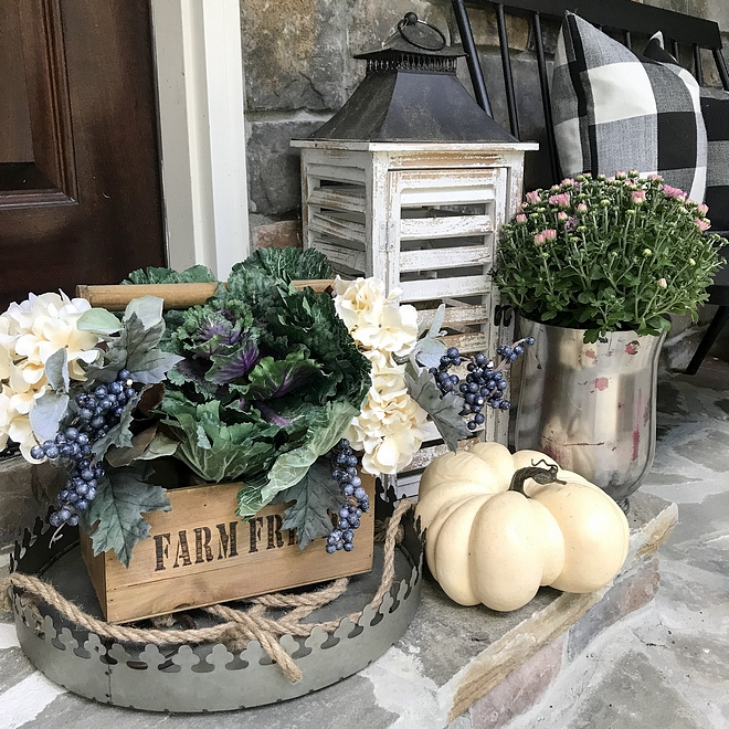 Fall Porch Front Door Step decorating ideas