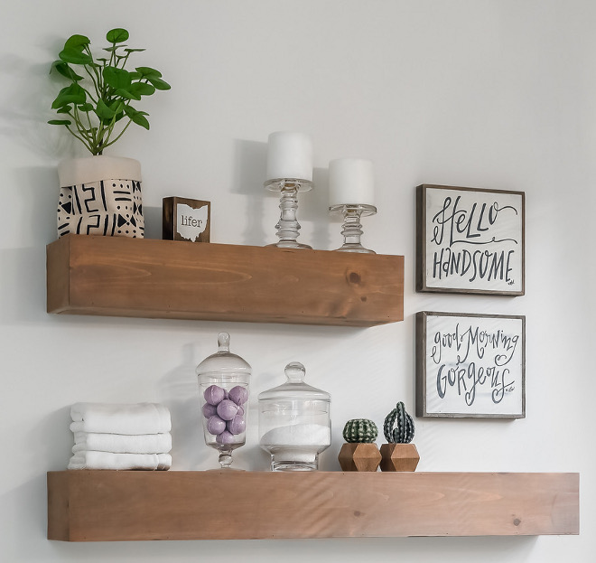 Chunky floating shelves Thick floating shelves Thick shelves Chunky floating shelves Chunky floating shelves DIY Chunky floating shelves #Chunkyfloatingshelves