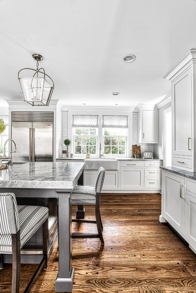 Walnut Hardwood Flooring White kitchen with refinished Walnut Hardwood Flooring refinished Walnut Hardwood Flooring #refinishedhardwoodflooring #WalnutHardwoodFlooring #HardwoodFlooring #kitchenHardwoodFlooring