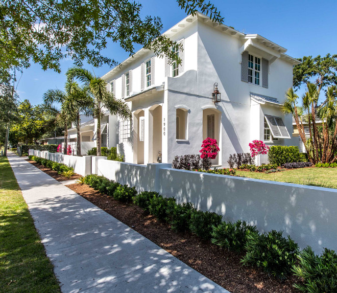 Stucco is painted in Simply White OC-117 by Benjamin Moore #Stucco #SimplyWhite #OC117 #BenjaminMoore