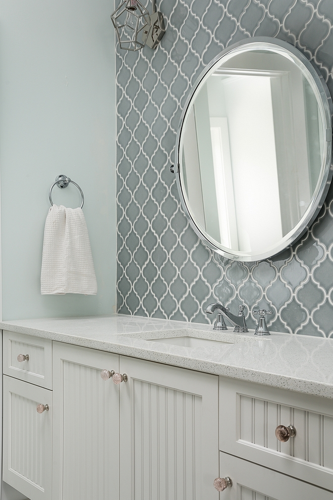 Arabesque Tile Grey Arabesque Tile bathroom Arabesque Tile #ArabesqueTile