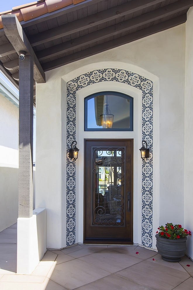 Sapnish Front door Front door is a custom wood, iron and glass door #Spanishfrontdoor #frontdoor #door