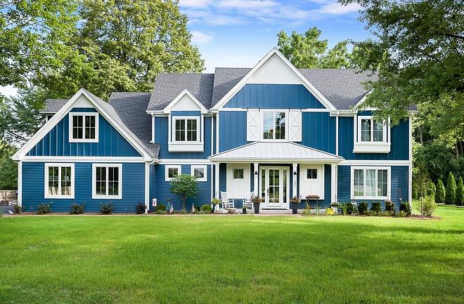 Modern Farmhouse With Blue Exterior Home Bunch Interior Design Ideas