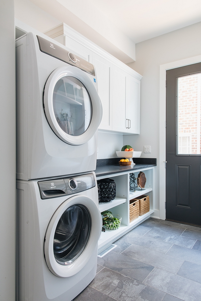 Laundry room mudroom combination with stacked washer and dryer Laundry room mudroom combination with stacked washer and dryer Laundry room mudroom combination with stacked washer and dryer #Laundryroom #mudroom #stackedwasherdryer
