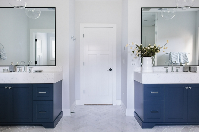 The master bathroom feels luxurious and modern without losing its timeless appeal #masterbathroom #bathroom