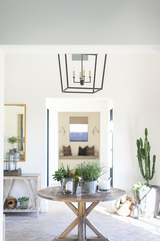 Entry The entry was designed to feel like walking into a desert conservatory This space really serves as the hub of the home #entry #foyer #entryway
