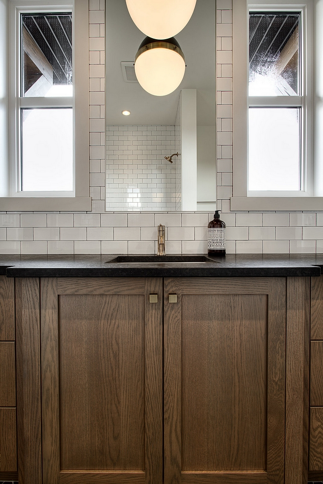 Bathroom Countertop Leathered Black Granite Bathroom Countertop Ideas Bathroom Countertop Leathered Black Granite #Bathroom #Countertop #LeatheredBlackGranite #BlackGranite