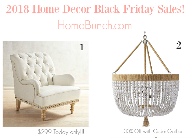 2018 Home Decor Black Friday Sales