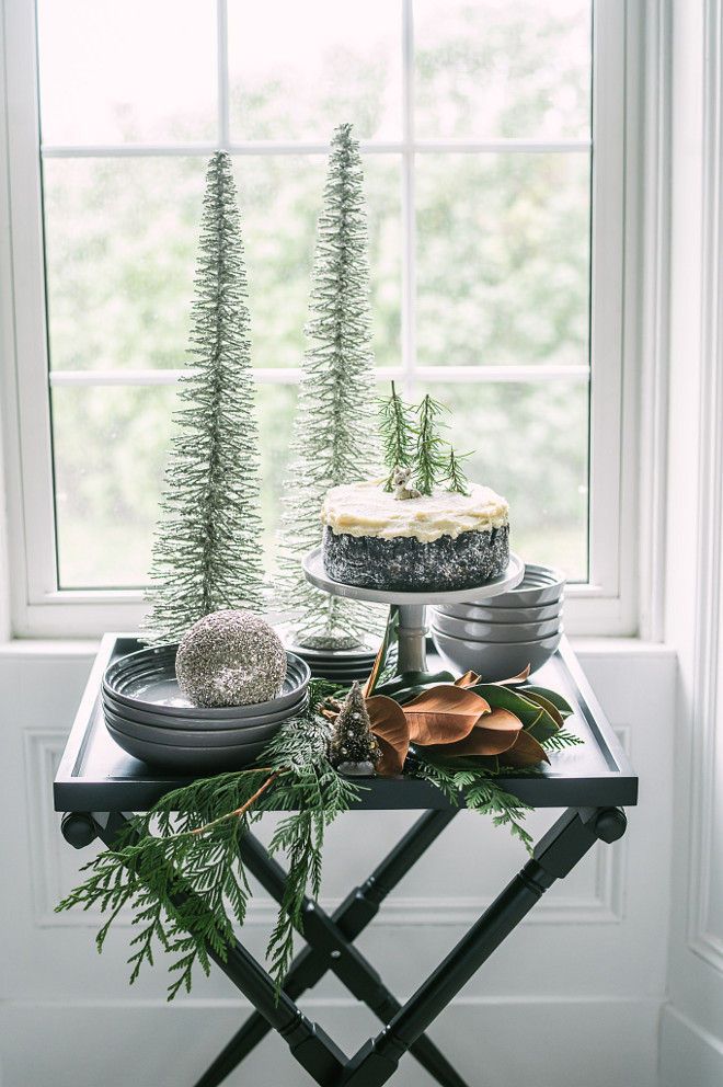 Christmas Bar Cart Decor