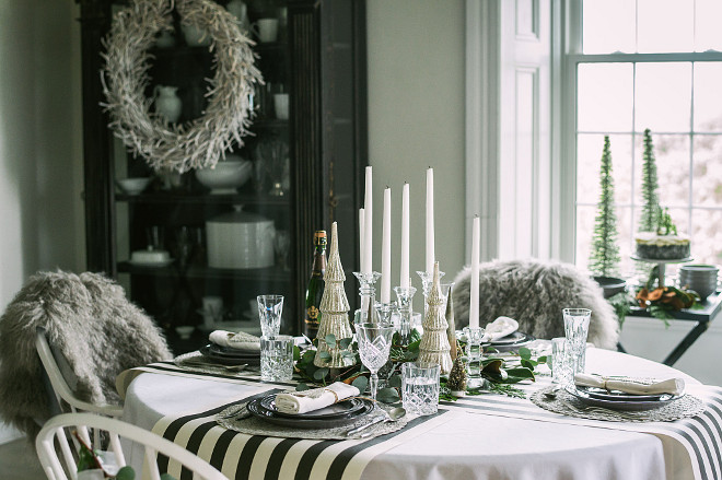 Farmhouse Holiday Table Decor
