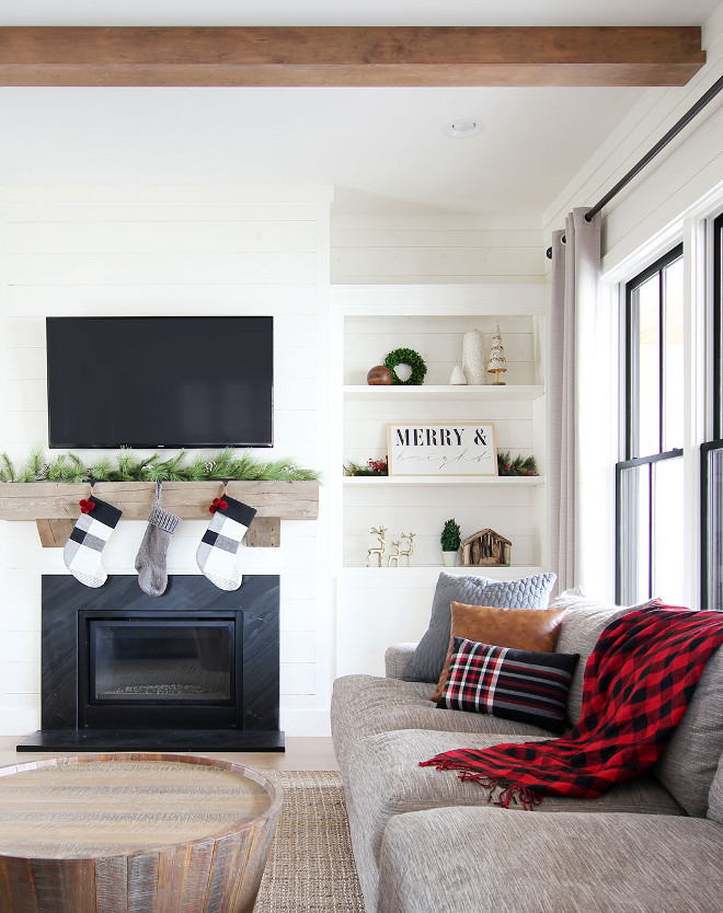 Modern Farmhouse style Christmas decor living room painted in Sherwin Williams Creamy Modern Farmhouse style Christmas decor ideas Modern Farmhouse style Christmas decor Modern Farmhouse style Christmas decor #ModernFarmhousestyleChristmasdecor #ModernFarmhousestyle #Christmasdecor #ModernFarmhouseChristmas