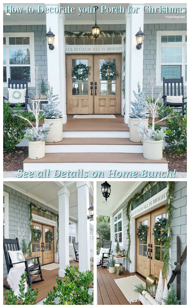 How to Decorate your Porch for Christmas See details on Home Bunch How to Decorate your Porch for Christmas #HowtoDecoratePorchforChristmas