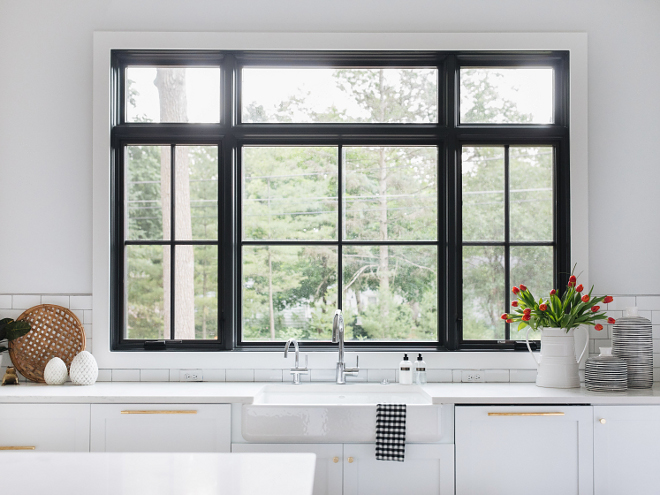 Kitchen Black Window Kitchen Black Windows above sink