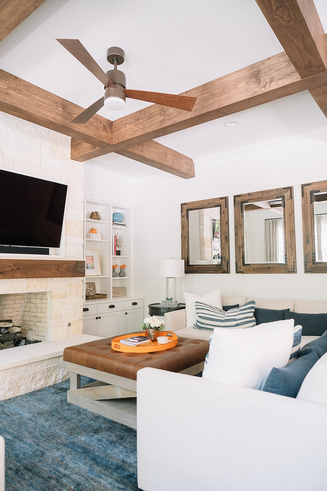 Boxed Beams The ceiling features custom boxed beams Rustic Boxed Beams Boxed Beam ideas Boxed Beam design Living room Boxed Beams #BoxedBeams #BoxedBeamceiling #BoxedBeamideas #BoxedBeamdesign #customBoxedBeam