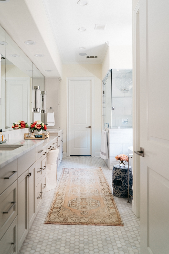Master Bathroom Renovation How to renovate a bathroom The master bathroom was also completely renovated and I really like how current yet timeless it feels Master Bathroom Renovation How to renovate a bathroom #MasterBathroomRenovation #bathroom #Renovation #bathroomRenovation #howtorenovateabathroom