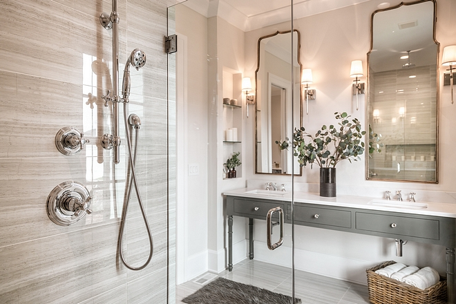 Bathroom mirrors gorgeous bathroom mirrors see sources on Home Bunch #mirrors #bathroommirrors #bathroom