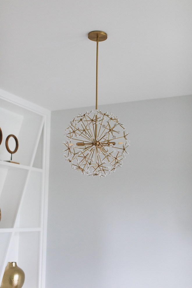 Floral Chandelier Brass and glass Floral Chandelier Modern Floral Chandelier #FloralChandelier