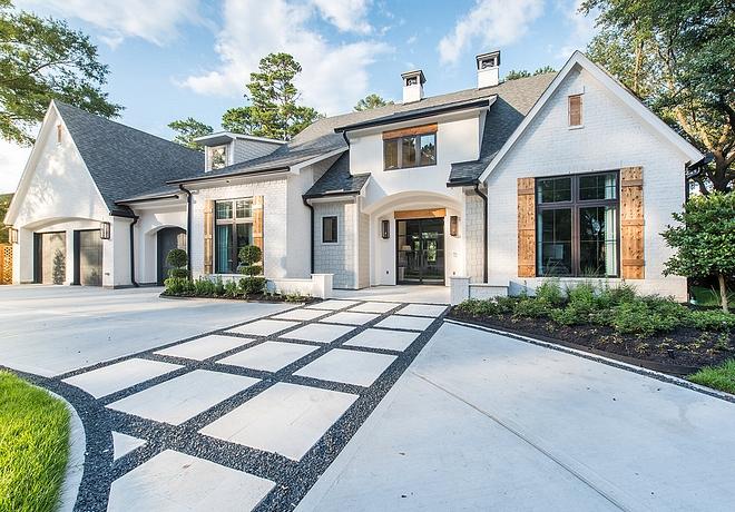 Modern farmhouse driveway ideas