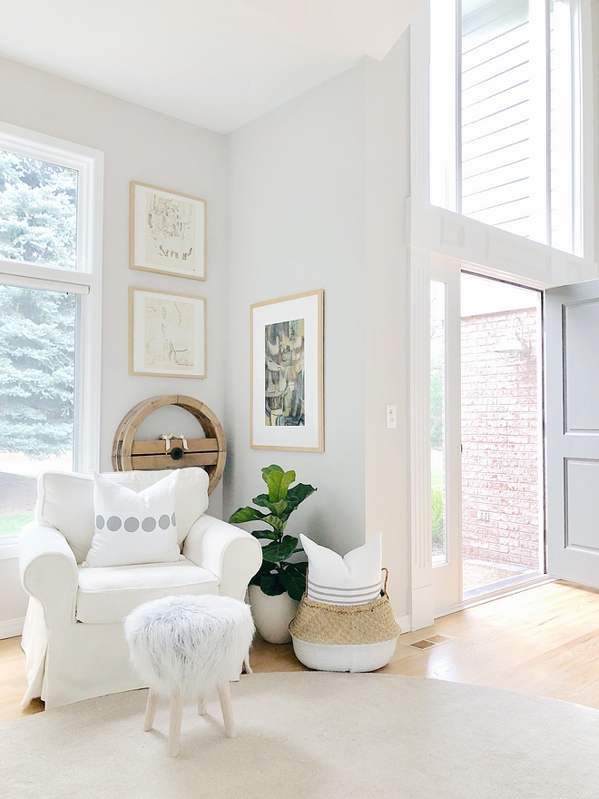 Benjamin Moore Balboa Mist Paint color is Benjamin Moore Balboa Mist in satin is on all of our walls Benjamin Moore Balboa Mist #BenjaminMooreBalboaMist