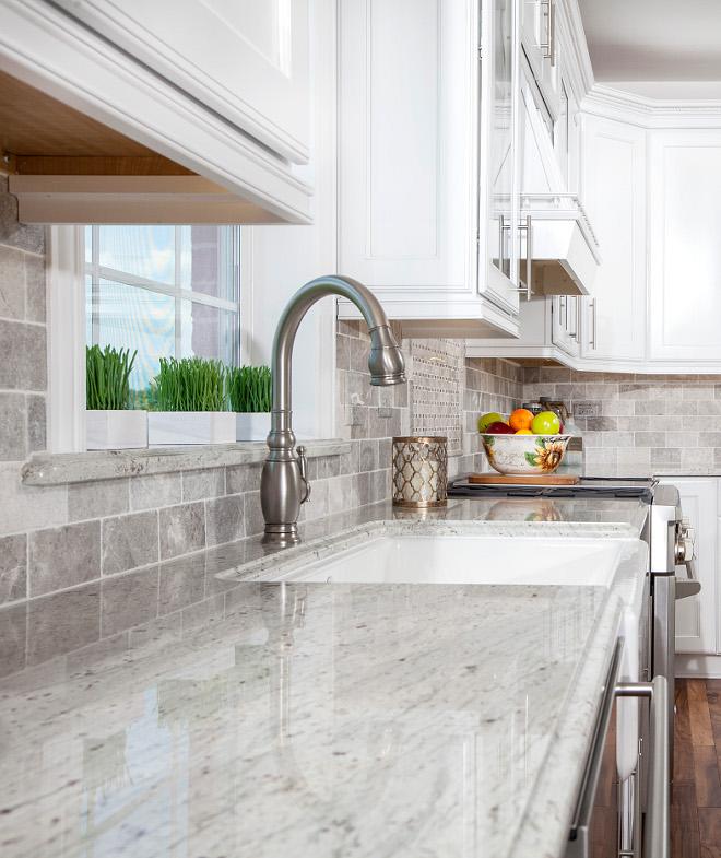 White Granite Countertop White Kitchen Countertop Granite River White #Whitegranite #Kitchen #Countertop #Granite #RiverWhiteGranite