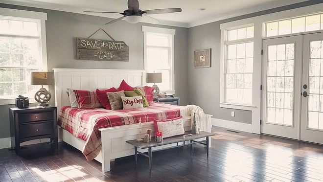 Sherwin Williams SW 7018 Dovetail master bedroom paint color Sherwin Williams SW 7018 Dovetail Sherwin Williams SW 7018 Dovetail #SherwinWilliamsSW7018Dovetail
