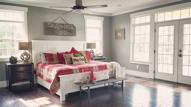 Sherwin Williams SW 7018 Dovetail master bedroom paint color Sherwin Williams SW 7018 Dovetail Sherwin Williams SW 7018 Dovetail #SherwinWilliamsSW7018Dovetail