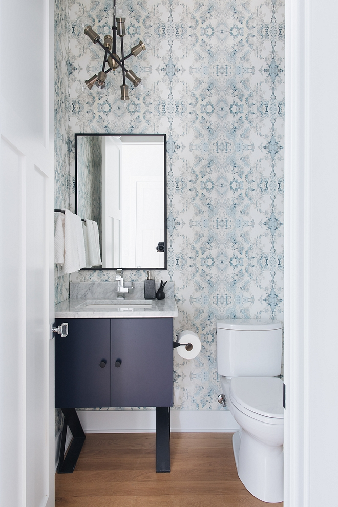 Sherwin Williams Anchors Aweigh SW 9179 Sherwin Williams Anchors Aweigh SW 9179 Bathroom cabinet paint color Sherwin Williams Anchors Aweigh SW 9179 #SherwinWilliamsAnchorsAweigh #SW9179