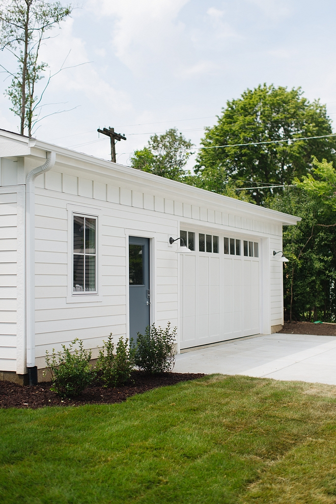 The garage paint color is Farrow and Ball All White