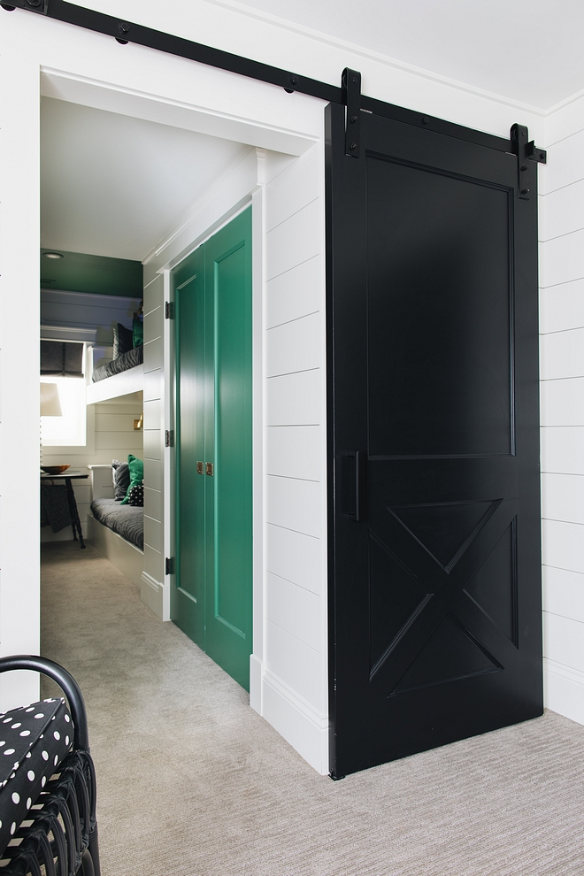 Benjamin Moore Black Bunk Room Barn Door Benjamin Moore Black Bunk Room Barn Door Paint Color Benjamin Moore Black Bunk Room Barn Door Benjamin Moore Black Bunk Room Barn Door #BenjaminMooreBlack #BunkRoom #BarnDoor