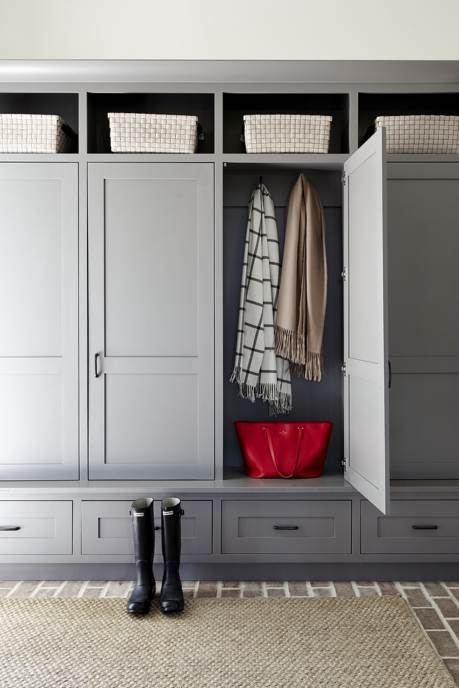 Brewster Gray HC 162 by Benjamin Moore Mudroom Cabinet Shaker inset built ins Brewster Gray HC 162 by Benjamin Moore Brewster Gray HC 162 by Benjamin Moore Mudroom Cabinet Shaker inset #BrewsterGrayHC162BenjaminMoore #BenjaminMoore #BenjaminMooreHC162 #Mudroom #Cabinet #Shakerinset