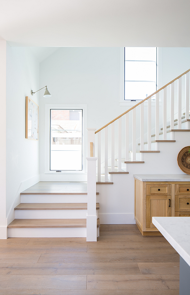 gray wash wide plank European Oak with custom square edged solid tread stair treads to match Wood Flooring and Stairs Colonial Collection in Lexington, gray wash wide plank European Oak with custom square edged solid tread stair treads to match #WoodFlooring #Stairtreads